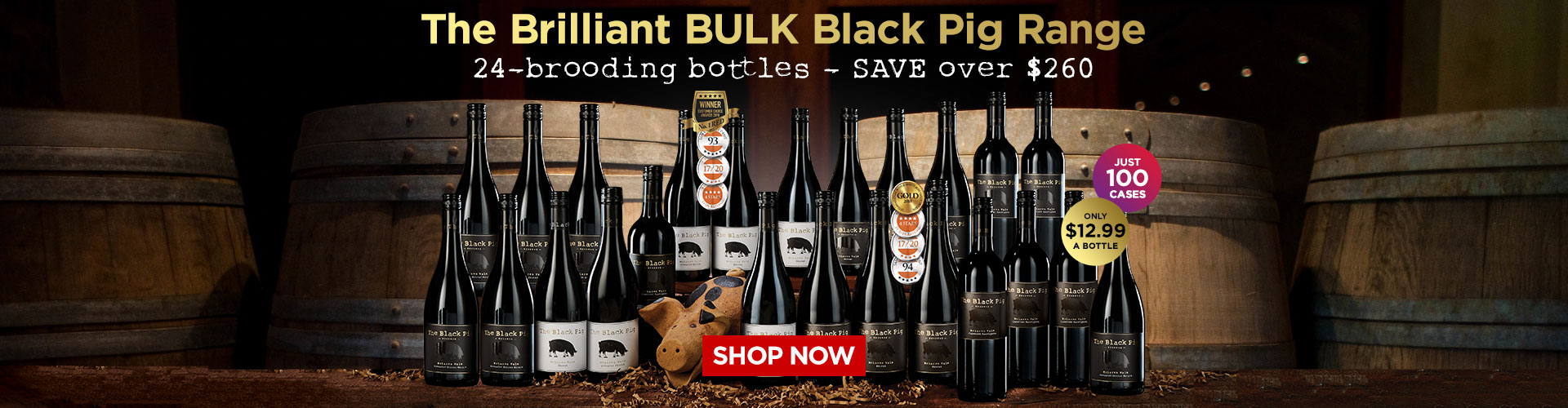 The Brilliant Bulk Black Pig Range - only $12.99 a bottle! SHOP NOW