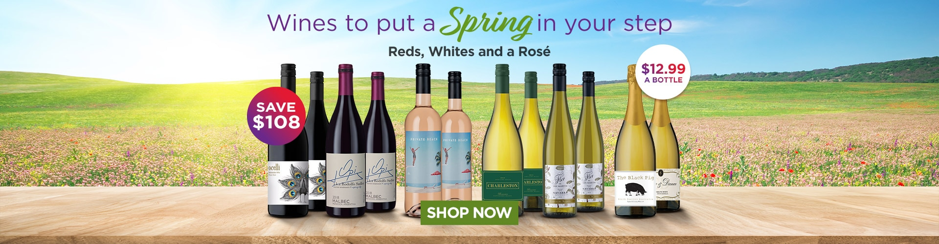 Reds, Whites and a Rosé to put a Spring in your step